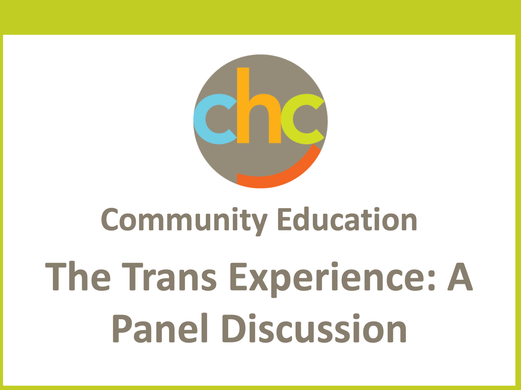 The Trans Experience- A Panel Discussion 387