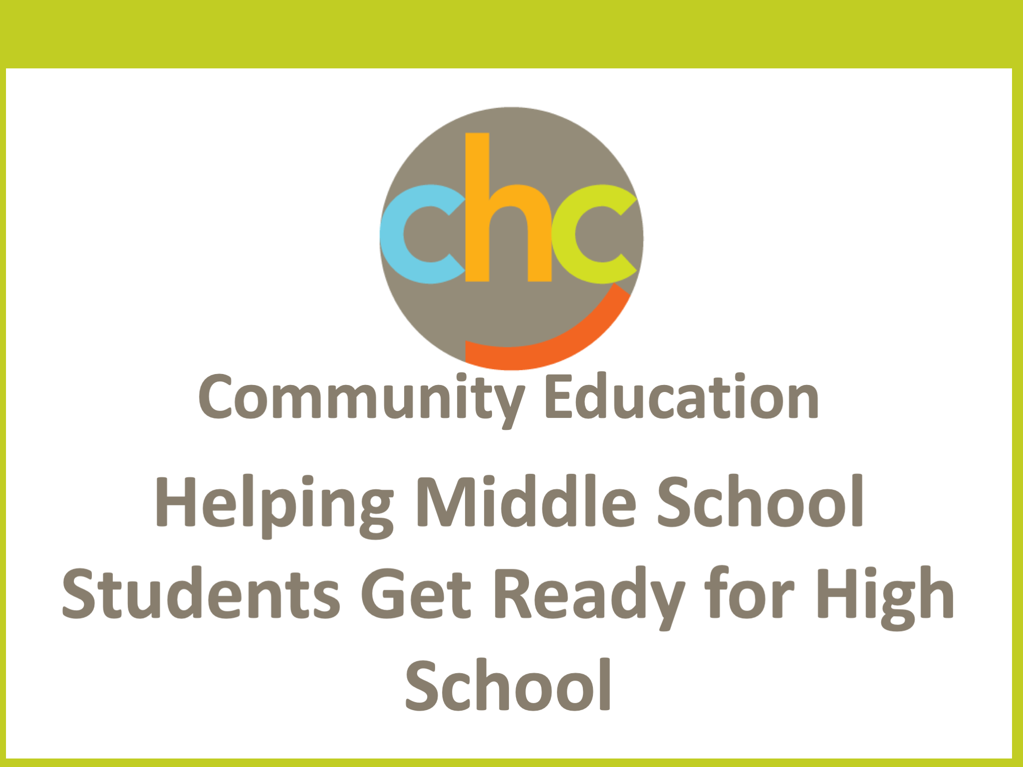 Helping Middle School Students Get Ready for High School 441