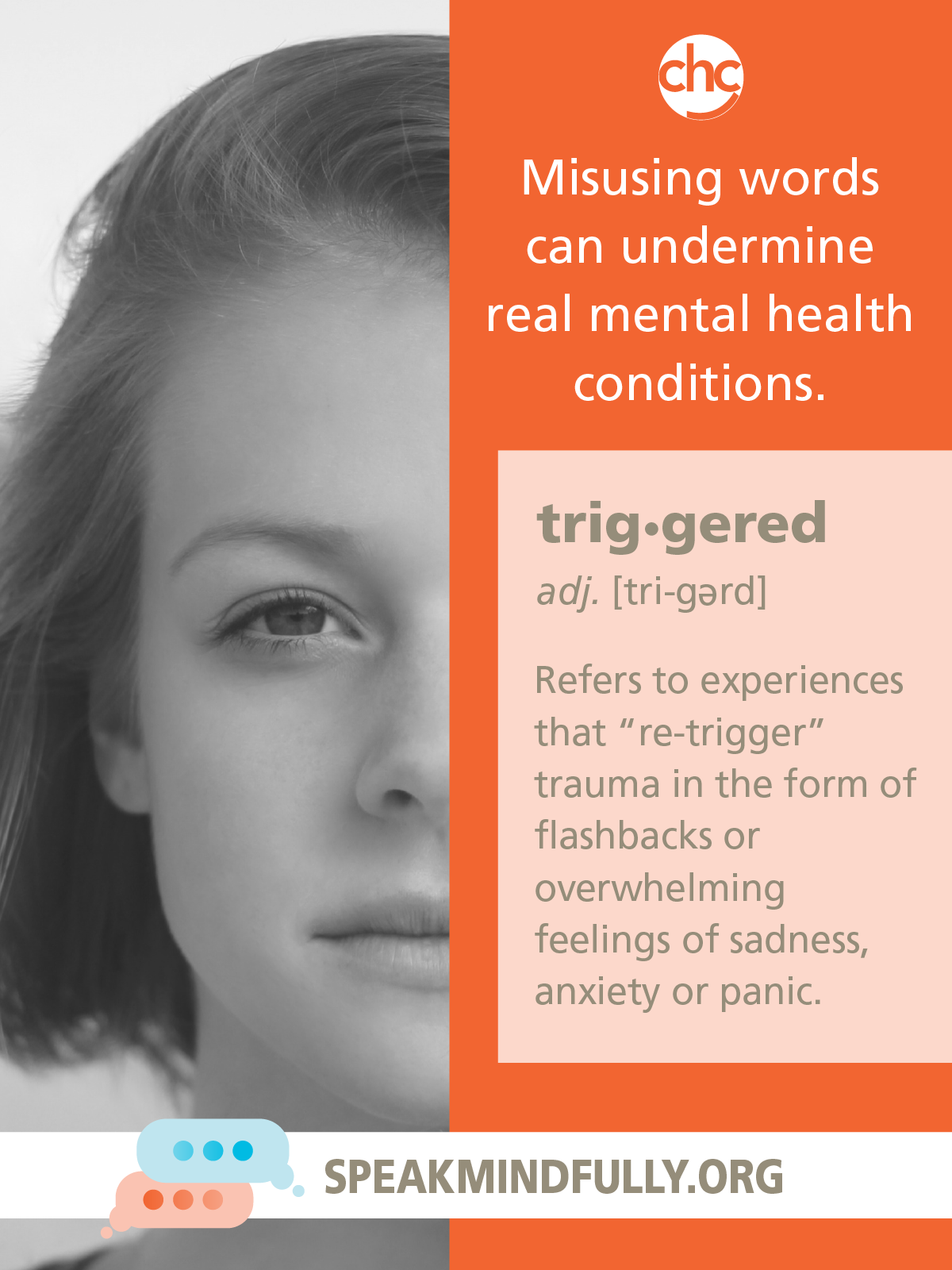 Speak Mindfully poster about triggered