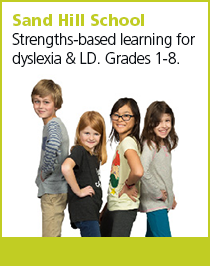 Sand Hill School: Strengths-based learning for dyslexia and learning differences (LD).