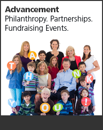 Philanthropy. Partnerships. Fundraising Events.