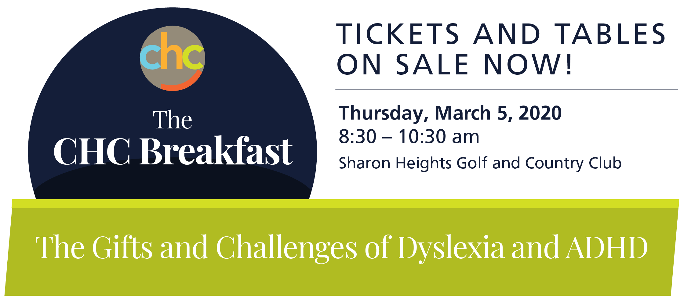 Buy Tickets: The CHC Breakfast, Thursday, March 5, 2020