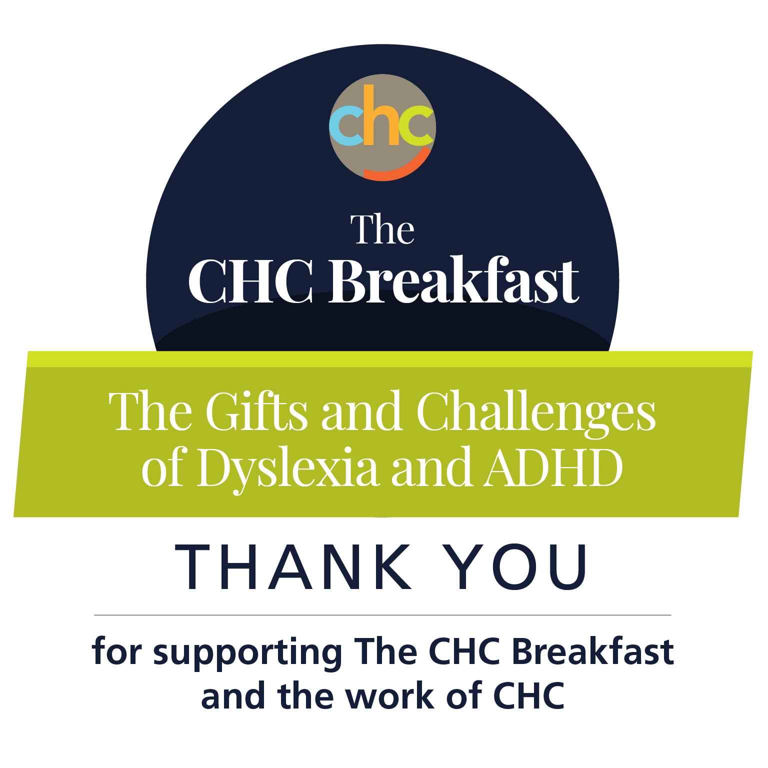 Thank you for supporting The CHC Breakfast, Thursday, March 5, 2020